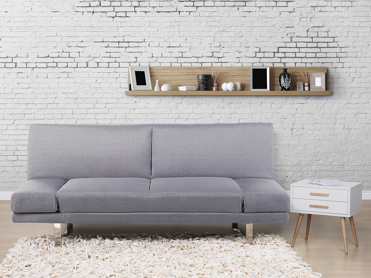 sofa hellgrau schlafsofa couch schlafcouch funktionssofa polstersofa ebay. Black Bedroom Furniture Sets. Home Design Ideas