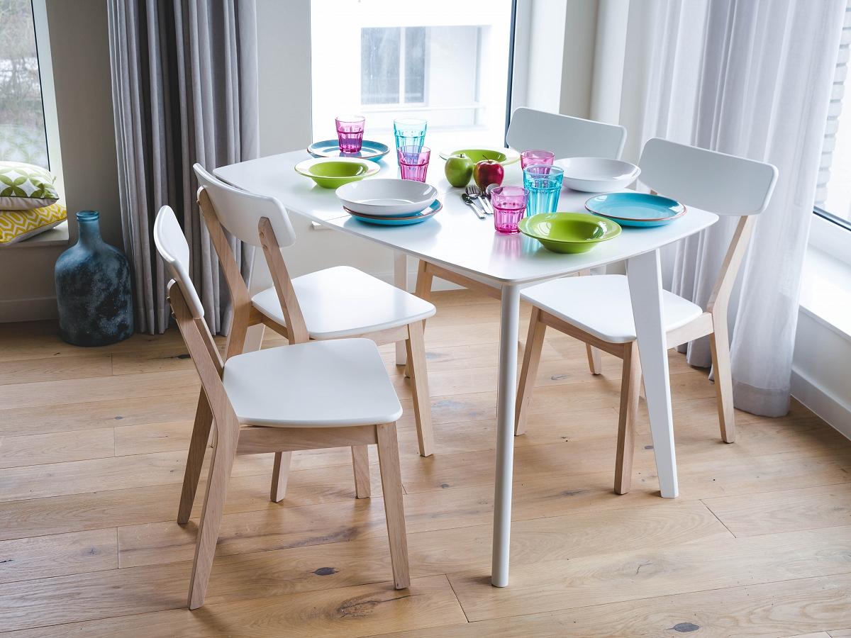 Tisch wei esstisch k chentisch esszimmertisch ausziehbar for Esszimmertisch 120 ausziehbar