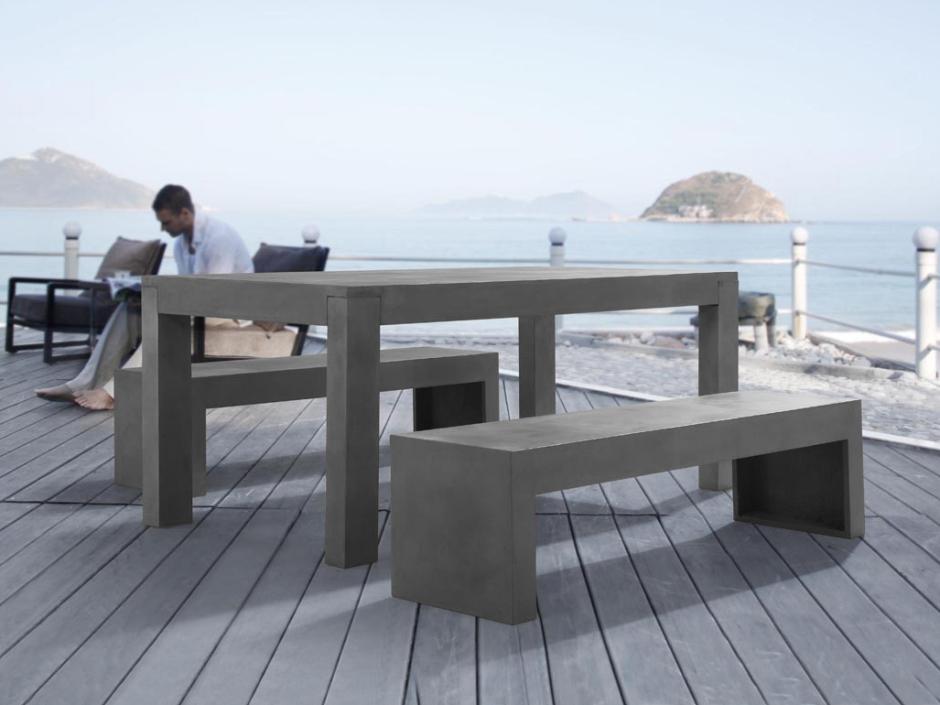 betonm bel gartenm bel aus beton tis in baar kaufen bei. Black Bedroom Furniture Sets. Home Design Ideas