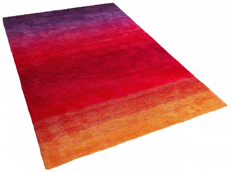 Teppich ViolettRot Shaggy Vorlage rechteckig Hochflor